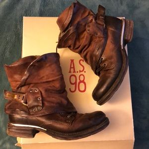 A.s. 98 Emerson genuine leather boots size 6